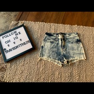 Express vintage style semi high waisted shorts